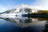 Spiral Butte and reflection in Dog Lake, White Pass, Washington