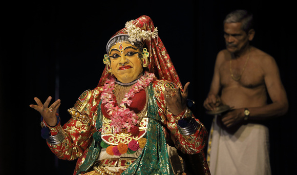 Kathakali woman performer, Cochin, Kerala, India