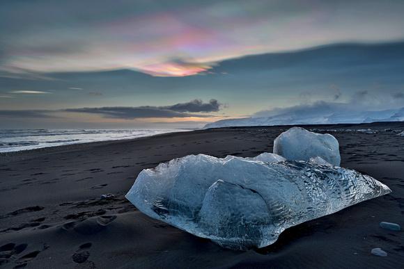 Tom Kogut Photography Iceland Winter 2018 Iceberg On Diamond
