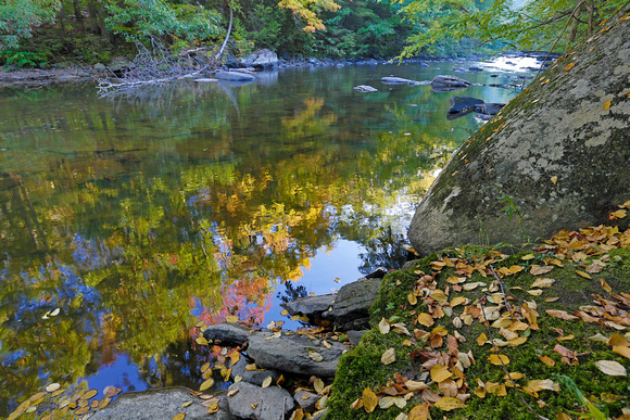 Shepaug River and fall colors, Connecticut