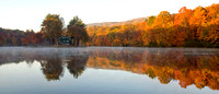 Fall color panorama, Beacon Falls, Connecticut