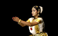 Mohiniyattam classical dancer, Cochin, Kerala, India