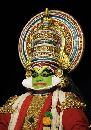 Kathakali performer, Cochin, India