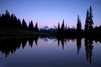 Mt. Rainier and reflection, Chinook Pass, Washington